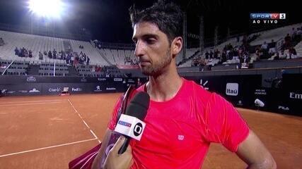 Bellucci acredita que a parte física fez diferença para Thiago Monteiro vencer a partida
