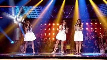 Marcela Morais, Maria Alice e Mayra Rodrigues cantam 'Zero a Dez'