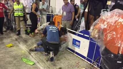 Acidente deixa quatro feridos na área de concentração da Sapucaí