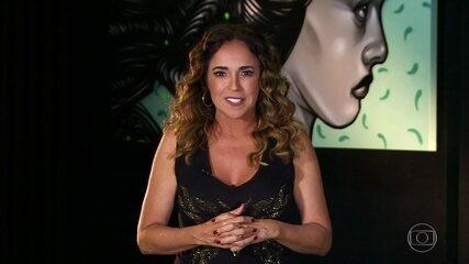 Daniela Mercury dá depoimento no telão do Domingão