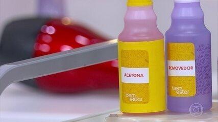 Removedor de esmalte agride menos as unhas do que a acetona
