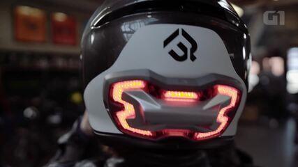 Luz de freio para capacete promete aumentar segurança do motociclista