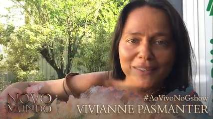 Vivianne Pasmanter participa de transmissão ao vivo para falar de Germana