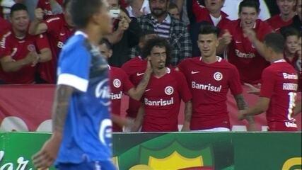 Dão marcou o gol do Cruzeiro-RS em derrota por 3 a 1 para o Internacional, pelo Campeonato Gaúcho