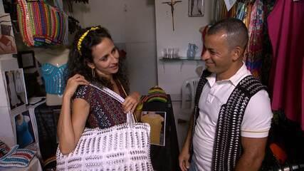 Maria Menezes mapeia Brotas e conhece o trabalho do estilista Carlos Roberto dos Santos