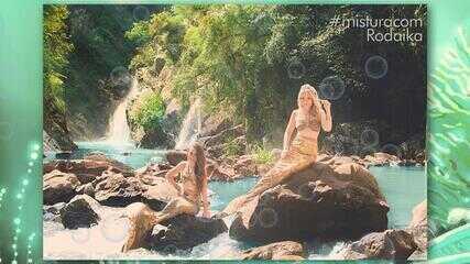 Rodaika vive um dia de sereia inspirada na novela 'A Força do Querer'