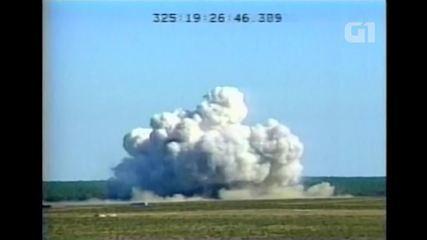 Vídeo mostra teste da bomba GBU-43 em 2003