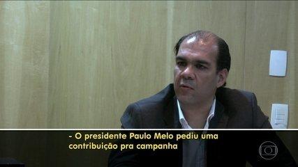 Delator diz que pagou R$ 250 mil a Paulo Melo em 2014