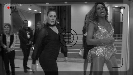 Claudia Raia aprende coreografia de Ícaro Silva