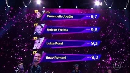 Emanuelle Araújo fica com a melhor nota geral no grupo 2 no 'Show dos Famosos'