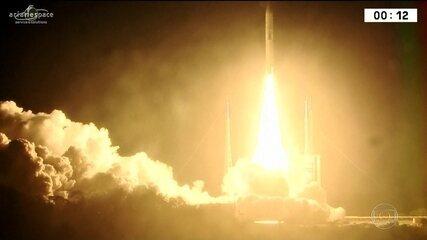 Satélite brasileiro é lançado em centro espacial na Guiana Francesa