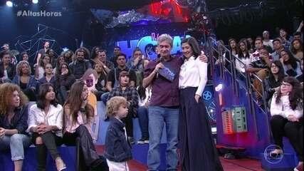 Serginho homenageia a esposa Fernanda e o filho