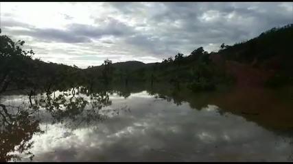 Rio sobe e isola moradores de Uiramutã, no Norte de Roraima