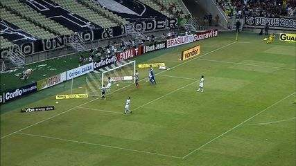 Goool do Ceará! Roberto chuta cruzado, o goleiro falha, e a bola vai para nas redes