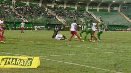 Com gol no fim, Boa Esporte é derrotado pelo Guarani por 2 a 1 no Brinco de Ouro