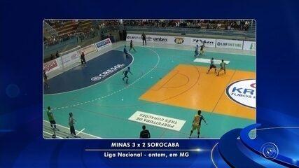 Fora de casa, Sorocaba perde para o Minas pela LNF