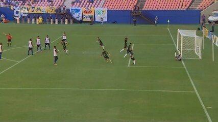 Veja os gols de Nacional 1 x 1 Manaus, pela final do Amazonense