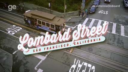 #CaliforniaOnboard sobrevoa a rua mais famosa do mundo em São Francisco