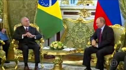 Michel Temer tem encontro com presidente da Rússia, Vladimir Putin