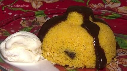 Cuscuz nordestino pode ser servido doce ou salgado