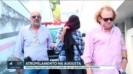 Motorista que atropelou skatistas na rua augusta se apresenta à polícia