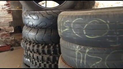 Borracharia de Maringá com estoque de pneus riscados é interditada