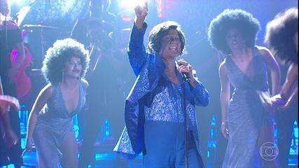 Nelson Freitas homenageia James Brown na final do 'Show dos Famosos'