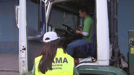 Caminhões com carga perigosa são alvos de fiscalização do IBAMA