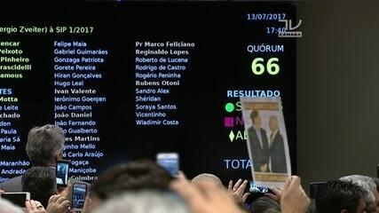 Rodrigo Pacheco lê resultado de votação da denúncia contra Michel Temer na CCJ