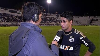 Léo Artur, autor do gol da Ponte Preta, fala sobre a perda do filho em 2016
