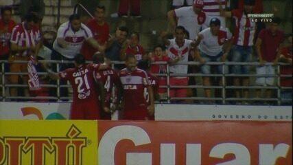 Adalberto coloca o CRB na frente, aos 46 minutos do segundo tempo