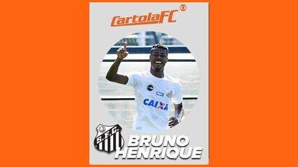 Bruno Henrique, do Santos, é o craque do Cartola FC na 16ª rodada do Brasileirão 2017