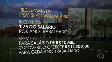 Governo calcula economizar R$ 1 bilhão ao ano com PDV