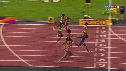 Tori Bowie vence 100m rasos e Rosângela Santos chega em 7º lugar no Mundial de atletismo