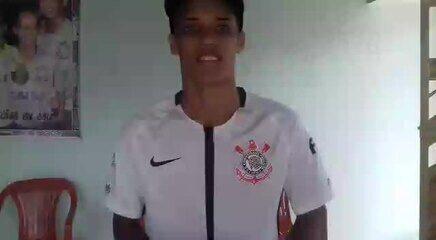 Pedrinho manda recado para torcida do Corinthians