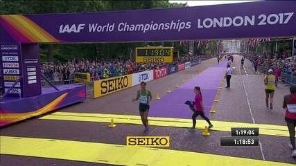 Caio Bonfim conquista a medalha de bronze na Marcha Atlética em Londres
