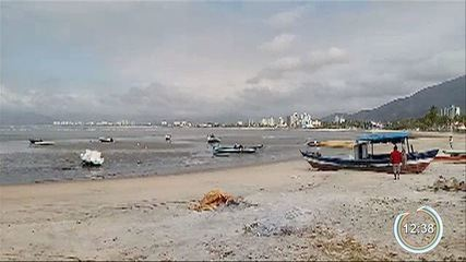 Mar voltou a recuar em Caraguatatuba