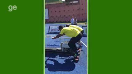 Treinamento da seleção brasileira de bobsled