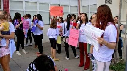 Mulheres protestam contra violência obstétrica em Rio Preto