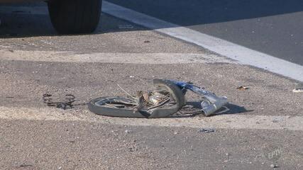 Ciclista foi atropelado por ônibus na Santos Dumont, em Campinas