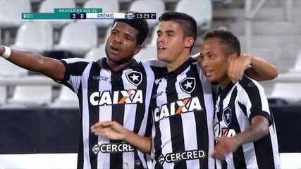 Os gols de Botafogo 3 x 1 Grêmio pelo Campeonato Brasileiro sub-20