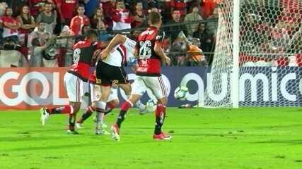 Confira os lances em que Thiago foi exigido contra o São Paulo