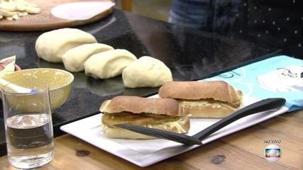 Sanduíche com Pão de Leite