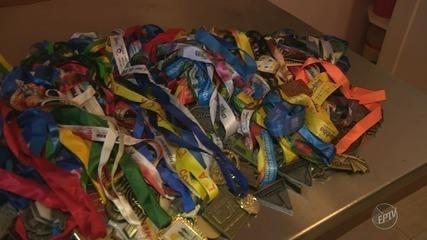 Corredor busca aumentar coleção de medalhas com a Corrida Integração