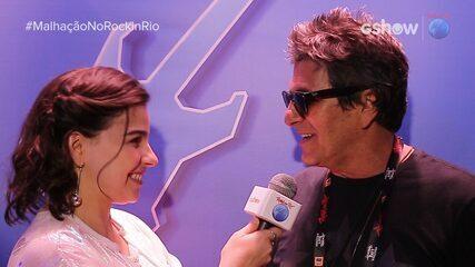 Gabriela Medvedovski entrevista Evandro Mesquita após show da 'Blitz'