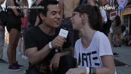 Daphne Bozaski desafia Bruno Gadiol a cantar músicas de artistas da calçada da fama