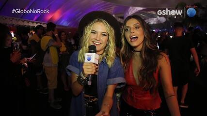 Giovanna Lancellotti entrevista Lua Blanco na área VIP do Rock in Rio