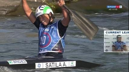 Ana Sátila conquista o bronze no Mundial de canoagem slalom
