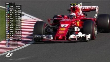 Kimi Raikkonen passa Hulkenberg e assume o quinto lugar