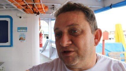 Comandante de barco explica acidente e resgate de vítimas de acidente aéreo, em Manaus